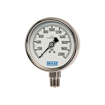 "4"" Type 232.54 400PSI Gauge - 1/2"" NPT LM Stainless Steel"