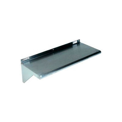 "Stainless Steel Wall Mounted Shelf, 10"" x 84"" Shelf"
