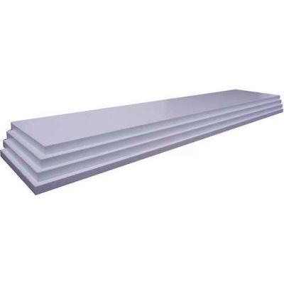 "Slatwall White Shelves, 3/4""Hx10""Dx47-3/4""W, Finished on 2 Sides and 3 Edges"