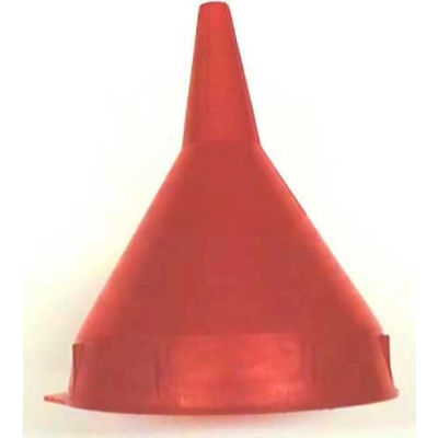 Funnel King® Red Safety Polyethylene 1 Pint Funnel w/ 50 Micron Filter Screen - 32091