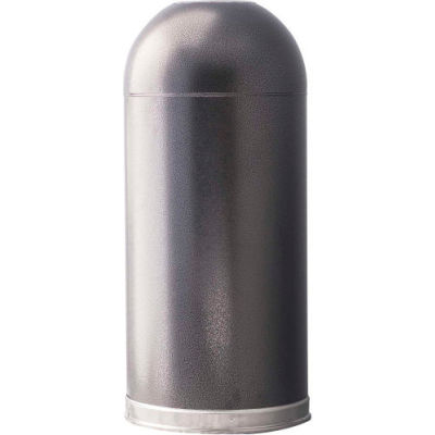 Monarch 15 Gallon Steel Receptacle w/Open Dome Top, Silver Vein - 415DTSVN