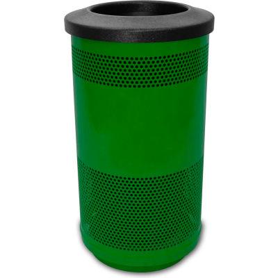 Stadium Series® 35 Gallon Receptacle w/Flat Top Lid, Evergreen - SC35-01-GN-FT