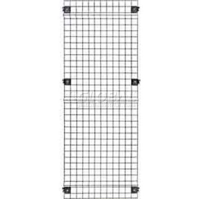 "Husky Rack & Wire, Velox, Machine Guard, Panel, 4' 10""W x 5' 6""H, Black"