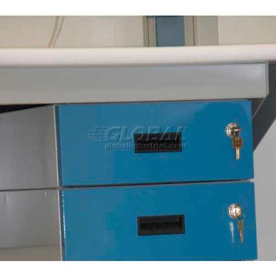"WSI Box Drawer Cabinet 2B-G, Double 6"", Grey"