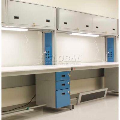 """WSI ESD Modular Workbench Adder C2-SPA-E3072-75GGB, C2 Series, 30""""D X 72""""W X 75""""H, Gray Laminate"""