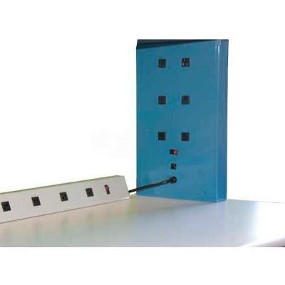 Wsi Electrical Riser Box El2-2-20a, 20a, 4 Outlets, Circuit Breaker, Pair - Pkg Qty 2