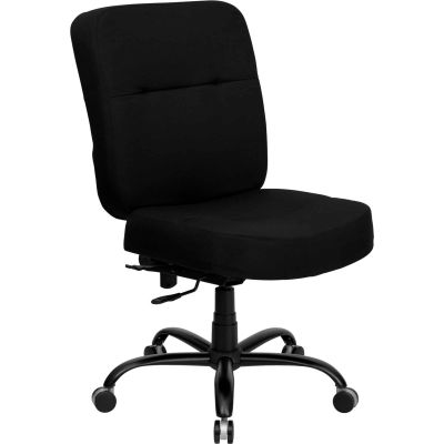 Big and Tall Office Chair - Fabric - High Back - Black - Hercules Series