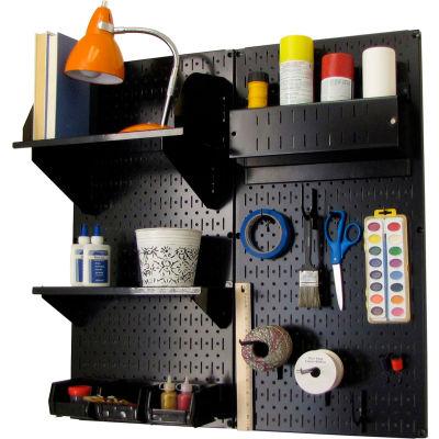 "Wall Control Pegboard Hobby Craft Organizer Storage Kit, Black, 32"" X 32"" X 9"""