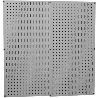 "Wall Control Pegboard Pack- 2 Panels, Gray Metal, 32"" X 32"" X 3/4"""