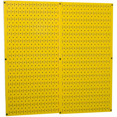 """Wall Control Pegboard Pack- 2 Panels, Yellow Metal, 32"""" X 32"""" X 3/4"""""""