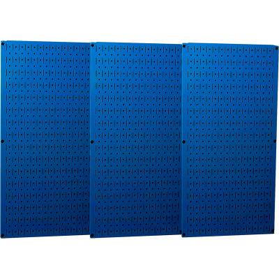 "Wall Control Industrial Metal Pegboard, Blue, 48"" X 32"" X 3/4"""