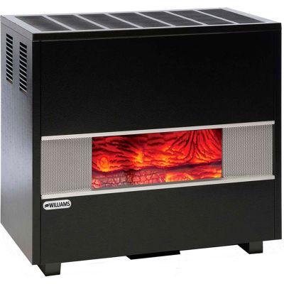 Williams Fireplace-Look Room Heater 5002522A Natural Gas 50000 BTU
