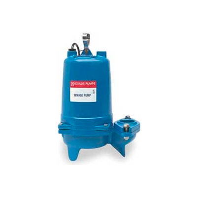"""Goulds WS0511BHF 2"""" Submersible Sewage Pump - 0.5 HP- 3500 RPM- 115V- 14.5 Amps"""