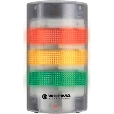 Werma 69120068 Flatsign BM Contin. Tone 115 - 230V AC, LED-Permanent/Blinking, Green/Yellow/Red