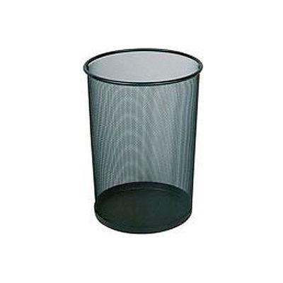 "Round Mesh Wastebasket, Black, 5 Gal., 11.5""Dia X 14""H - Pkg Qty 6"