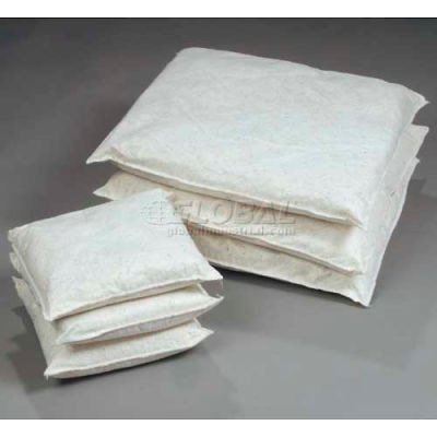 "ESP Oil Only Poly-Cellulose Absorbent Pillow, 40WPILL1010, 10"" x 10"", 40 Pillows/Box"