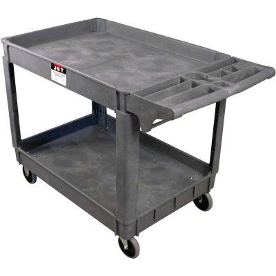 "JET® PUC Series Plastic Service & Utility Cart 140018 - 39"" x 17"", 2 Shelf, 550 Lb. Cap."