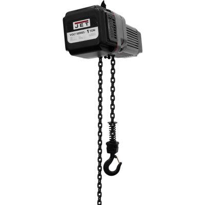 JET® VOLT 1 Ton, Electric Chain Hoist, 10' Lift, 0 to 39 FPM, 460V