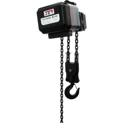 JET® VOLT 5 Ton, Electric Chain Hoist, 10' Lift, 0 to 12 FPM, 460V
