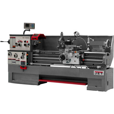 Jet 321505 GH-1860ZX Large Spindle Bore Lathe W/Acu-Rite 200S DRO & Taper Attachment, 7-1/2 HP