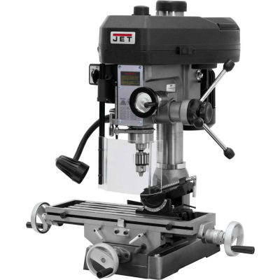 Jet 350017 JMD-15 Milling/Drilling Machine W/R-8 Taper, 1HP, 115/230V, 1-Phase