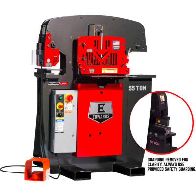 "Edwards 55203522 55 Ton Ironworker 3 Phase, 208 Volt, PowerLink,10"" Brake"