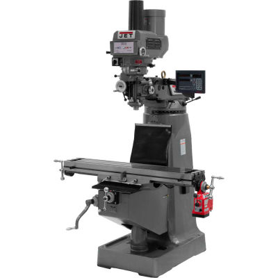 JTM-4VS Mill With Newall DP700 DRO With X-Axis Powerfeed and Power Draw Bar