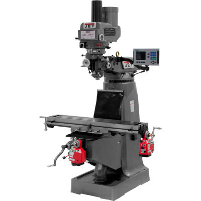 JTM-4VS Mill With ACU-RITE 200S DRO With X and Y-Axis Powerfeeds and Power Draw Bar