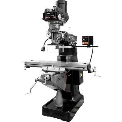 JET® 894216 ETM-949 Mill,3-Axis ACU-RITE 300 (Knee) DRO,Servo X,Y,Z-Ax Pwrfds,USA Air P.Drw Br