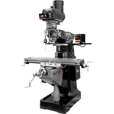 JET® 894350 EVS-949 Mill,3-Axis ACU-RITE 303 (Knee) DRO,X,Y,Z-Axis JET Pwrfds,USA Pwred Drw Br