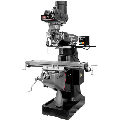 JET® 894402 EVS-949 Mill,2-Axis ACU-RITE 303 DRO,Servo X,Y-Axis Powerfeeds,USA Air Pwrd Draw Br
