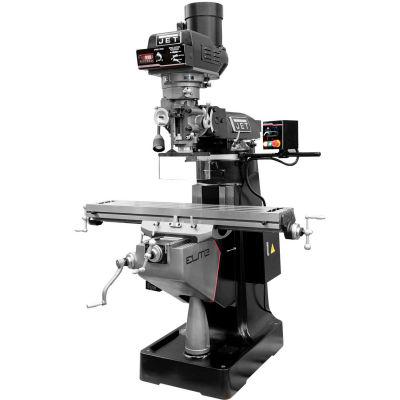 JET® 894418 EVS-949 Mill,2-Axis Newall DP700 DRO,Servo X-Axis Powerfeed,USA Air P. Drw Br