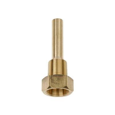 "3/4"" NPT Brass Thermowell 3 1/2"" stem"