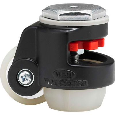 WMI® Roll & Set Leveling Caster WMI-40SUD-BLK 60 Lb. Capacity - Swivel Stem Mount