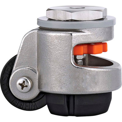 WMI® Stainless Steel Leveling Caster WMS-60S - 550 Lb. Capacity - Stem Mounted