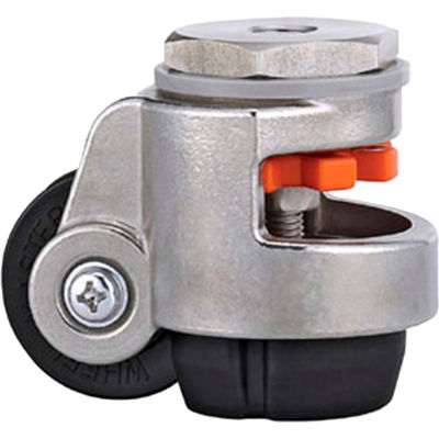 WMI® Stainless Steel Leveling Caster WMSPIN-40S - 110 Lb. Capacity - Stem Mounted