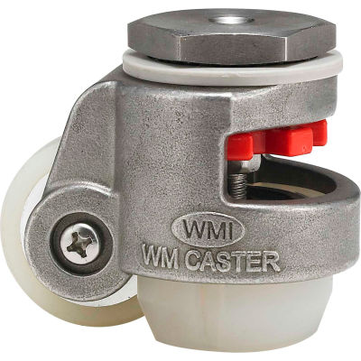 WMI® Stainless Steel Leveling Caster WMSPIN-40SUD 110 Lb. Capacity - Swivel Stem Mount
