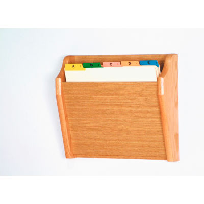 Single Tapered Pocket Chart Holder - Light Oak