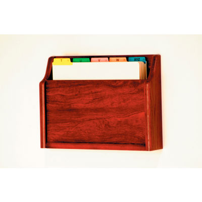 Single Pocket Chart Holder - Mahogany