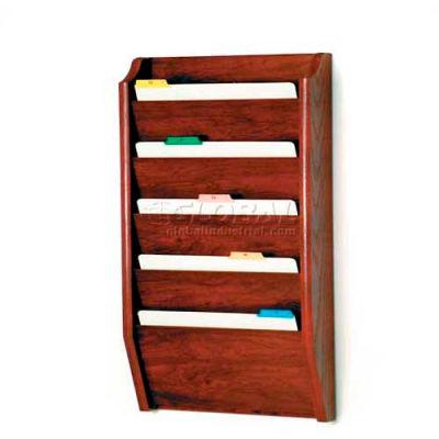 Wooden Mallet 5 Pocket Legal Size File Holder, Mahogany