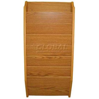 Wooden Mallet 7 Pocket Legal Size File Holder, Light Oak
