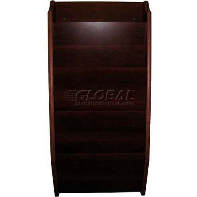 Wooden Mallet 7 Pocket Legal Size File Holder, Mahogany