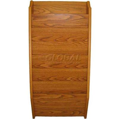 Wooden Mallet 7 Pocket Legal Size File Holder, Medium Oak