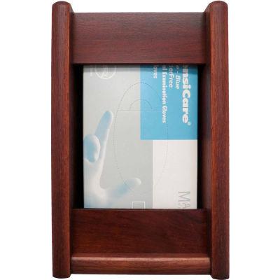 Wooden Mallet 1 Pocket Glove/Tissue Box Holder - Rectangle, Mahogany