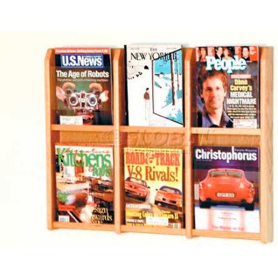 Wooden Mallet Divulge™ 6 Magazine Wall Display, Light Oak