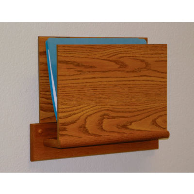 HIPAA Compliant Small Oak Open Ended Chart Holder - Medium Oak