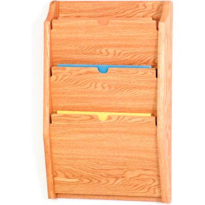 3 Pocket HIPPAA Compliant Chart Holder - Light Oak