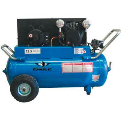 Eagle P4125H1, Portable Electric Air Compressor, 4 HP, 25 Gallon, Horizontal, 12.5 CFM