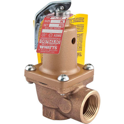 "Watts 3/4"" Relief Valve 0274428"