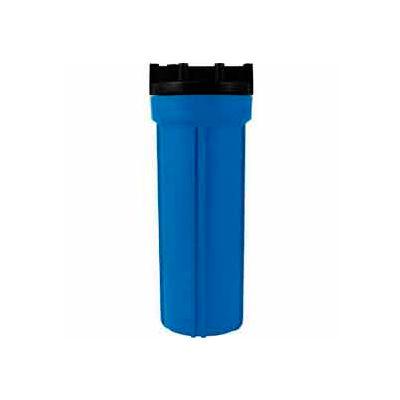 """10"""" Residential Blue/Black Plastic Filter Housing 1/2"""" Port - Pkg Qty 12"""